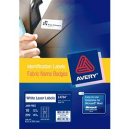 Avery 959170 L7484 laser acetate silk name badge labels 27 per sheet 63.5 x 29.6mm pack 10 sheets
