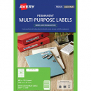 Avery 959018 L7656 laser white media labels 84 per sheet 46 x 11.11mm pack 25 sheets