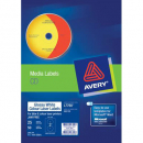 Avery 960100 L7760 laser glossy white cd labels 2 per sheet 117mm diameter pack 25 sheets