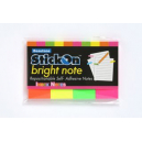Stick on notes 50 x 20mm assorted neons pack 4