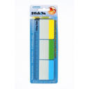 Beautone stick on filing tabs 37 x 50mm assorted colours pack 30