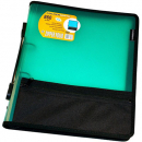 Foldermate pp zipper ring binder folio 2 ring 25mm A4 green