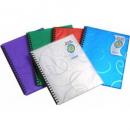 Beautone jewel display books refillable A4 30 pocket blue