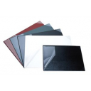 Bantex desk pad with clear corners black 490 x 650mm