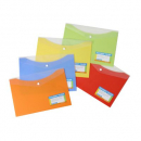 Beautone document wallet with button A4 mango
