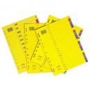 Bantex divider manilla A4 jan-dec coloured