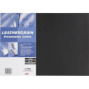 Gbc binding cover leathergrain A3 300gsm pack 25 black