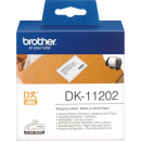 Brother dk-11202 shipping/name badge labels 62 x 100mm white roll 300