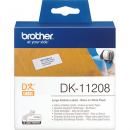 Brother dk-11208 address label large 38x90mm white roll 400