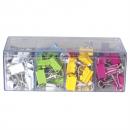Celco coloured foldback clips 19mm box 96