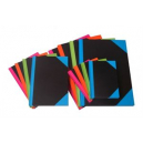 Cumberland notebook A5 192 page bright coloured corners