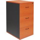 Rapidline worker filing cabinet 3 drawer lockable 465 x 600 x 998mm cherry/ironstone