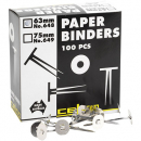 Celco no 649 paper binders 75mm box 100