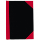 Notebook A4 100 leaf red and black