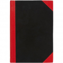Notebook A5 100 leaf feint red and black