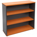 Rapid worker bookcase 3 shelf 900 x 315 x 1200mm cherry/ironstone