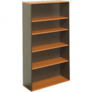 Rapid worker bookcase 4 shelf 900 x 315 x 1800mm beech/ironstone