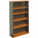 Rapid worker bookcase 4 shelf 900 x 315 x 1800mm cherry/ironstone