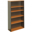 Rapid worker bookcase 2 shelf 900 x 300 x 900mm cherry/ironstone