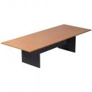 Rapid worker boardroom table 3200 x 1200 x 730mm beech