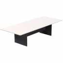 Rapid worker boardroom table 3200 x 1200 x 730mm white