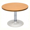 Rapidline stainless steel base round coffee table 425 x 600mm cherry