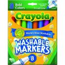 Crayons crayola large washable pk 8
