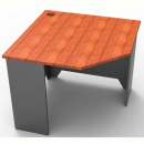 Rapid worker corner desk 900 x 900mm cherry/ironstone