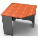 Rapid worker corner desk 900 x 900mm cherry/ironstone