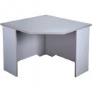Rapid vibe corner desk 900 x 900 x 600 x 730mm grey