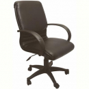 Rapidline executive chair medium back single point tilt lock pu black