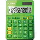 Canon ls-123m calculator dual power 12 digit metalic green