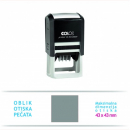 Colop q43 printer self inking custom made dater stamp 43 x 43mm
