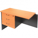 Rapid worker desk pedestal fixed 3 drawers lockable 465 x 370 x 454mm beech/ironstone