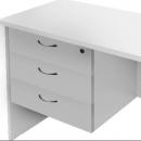 Rapidline desk return pedestal fixed 3 drawers lockable 465 x 370 x 454mm grey