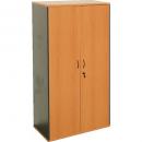 Rapid worker cupboard lockable 1800 x 900 x 450mm beech/ironstone