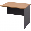 Rapid worker desk wing return 1200mm cherry/ironstone