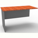 Rapid worker desk wing return 300mm cherry/ironstone