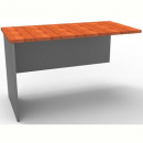 Rapid worker desk wing return 600mm cherry/ironstone
