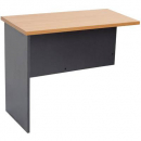 Rapid worker desk wing return 300mm beech/ironstone