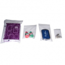 Clip seal bags resealable plastic 100x125 pkt 100