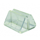 Deflecto ticket card holder triangle 50 x 45 x 50 clear