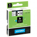 Dymo D1 label tape 12mm black on white