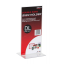 Deflecto sign holder DL portrait double sided