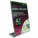 Deflecto sign holder A7 portrait slanted