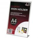 Deflecto sign holder A4 portrait slanted
