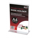 Deflecto sign holder A4 portrait double sided