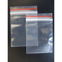 Clip seal bags resealable plastic 50x75 pkt 100
