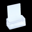 Deflecto business card holder portrait clear