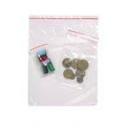 Clip seal bags resealable plastic 75x100 pkt 100